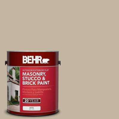 1 gal. #MS-43 Sandstone Flat Interior/Exterior Masonry, Stucco and Brick Paint