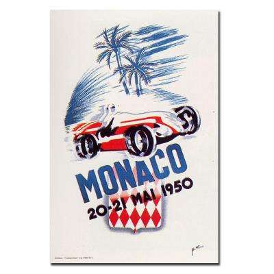 18 in. x 24 in. Monaco 1950 by George Ham Canvas Art