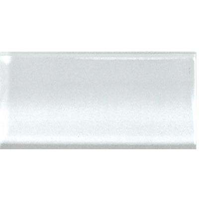 Clearbrook Snow 3 in. x 6 in. Glass Wall Tile (4 sq. ft. / case)