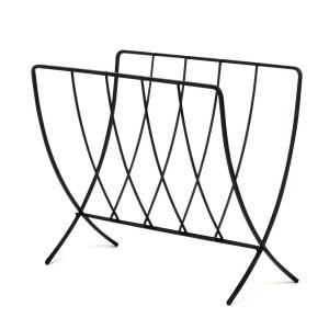 Spectrum Seville 15.375 inch W Magazine Rack in Black by Spectrum