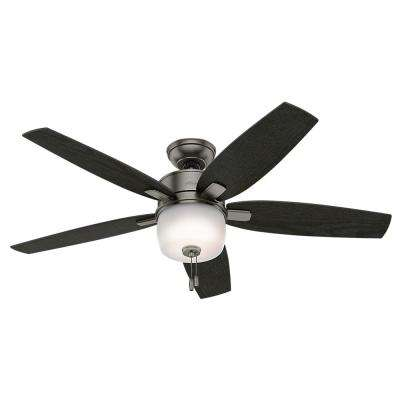 Calero 52 in. Indoor Brushed Slate Ceiling Fan with Light Kit