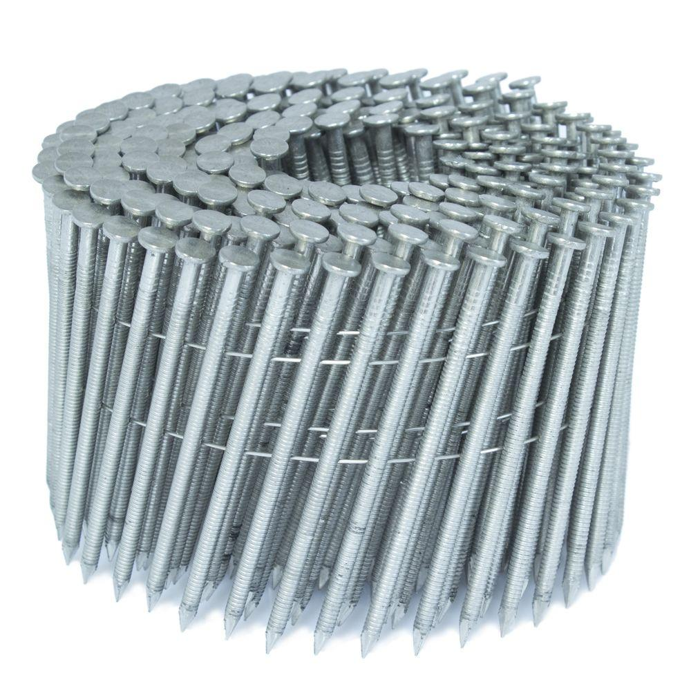 FASCO 3 in. x 0.121 in. 15-Degree Ring Stainless Wire Coil Siding ...