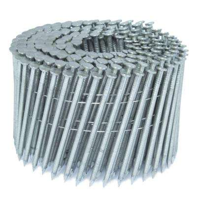 3 in. x 0.121 in. 15-Degree Ring Stainless Wire Coil Siding Nail 1,000 per Box