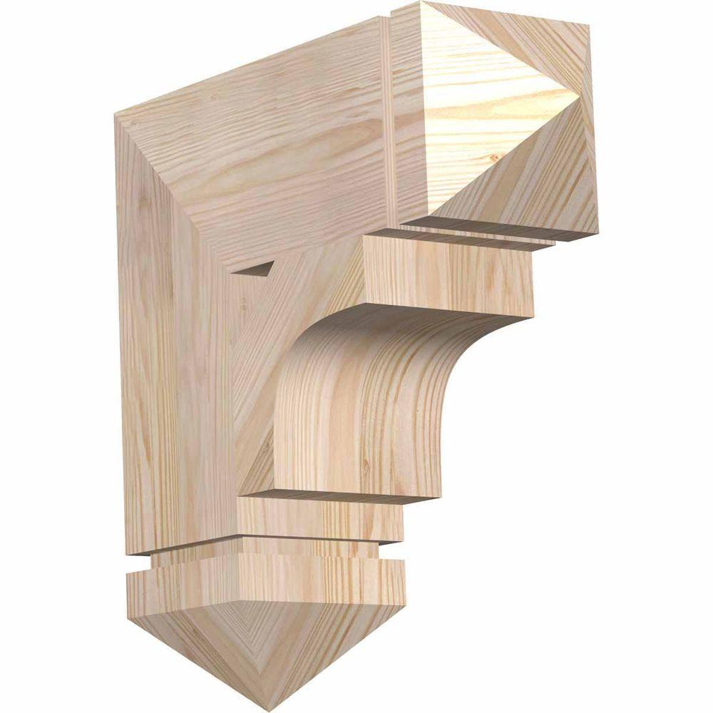 Ekena Millwork 5.5 in. x 18 in. x 18 in. Douglas Fir Westlake Arts and Crafts Smooth Bracket