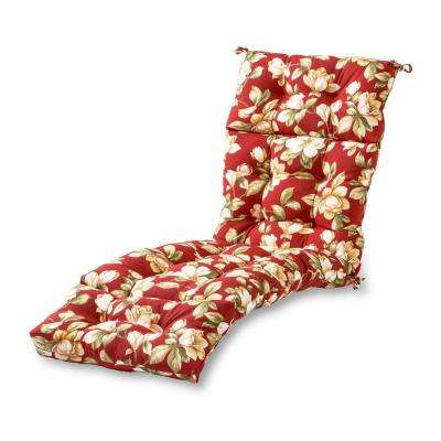 Roma Floral Outdoor Chaise Lounge Cushion