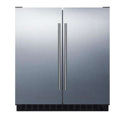30 in. 5.4 cu. ft. Built-In Side by Side Refrigerator in Stainless Steel, Counter Depth