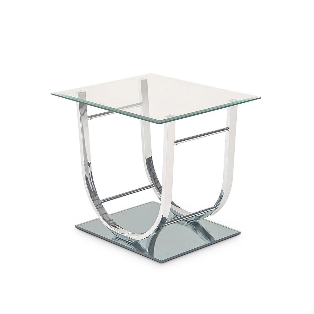 Natalie Glass And Metal End Table
