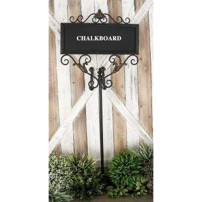 18 in. x 42 in. New Traditional Chalkboard with Iron Stand