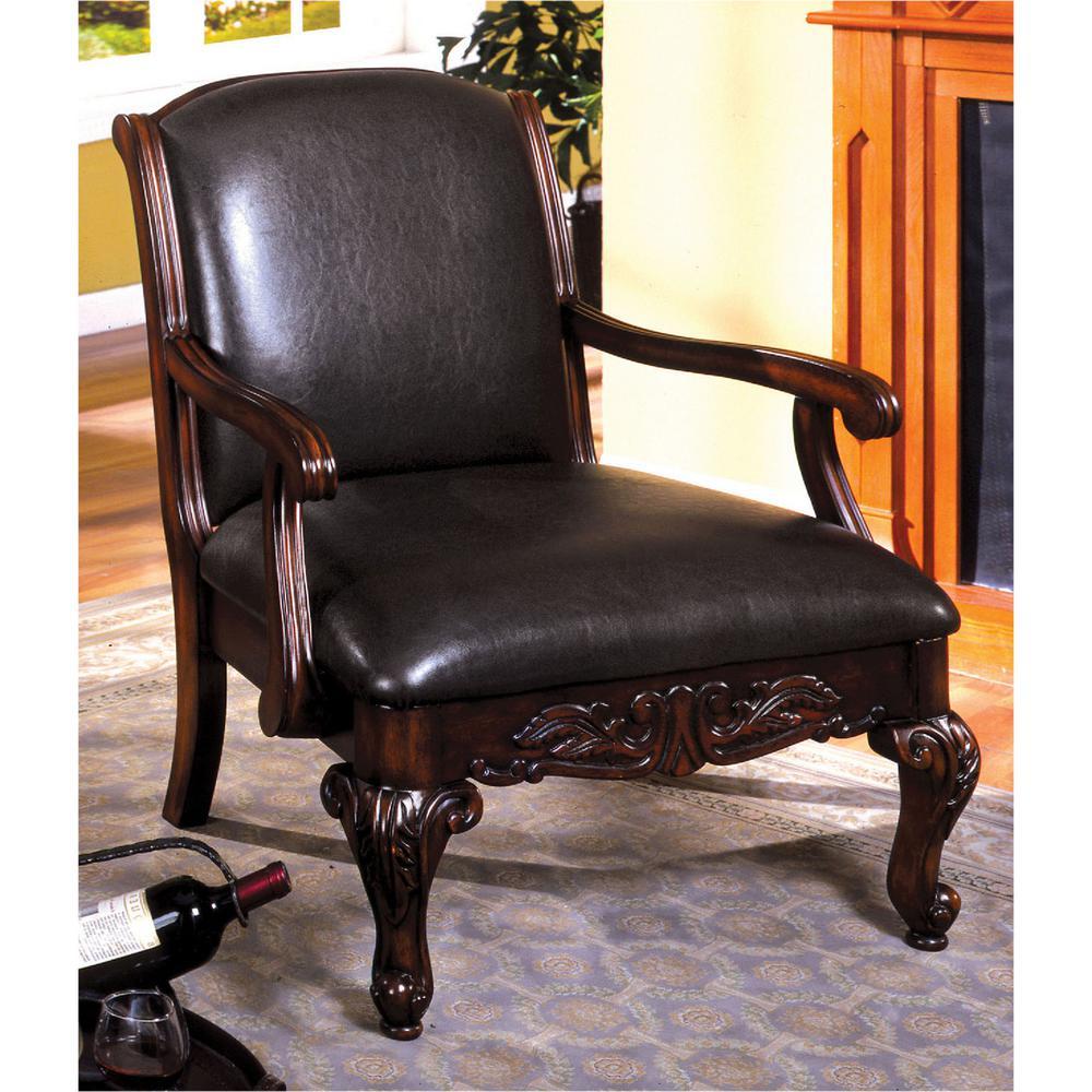 Sheffield Antique Dark Cherry Leather Arm Chair