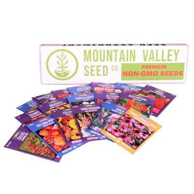 18 Flower Seeds, Poppy, Snapdragon, Viola, More Premium Assortment Annual Flower Gardening Seed Collection