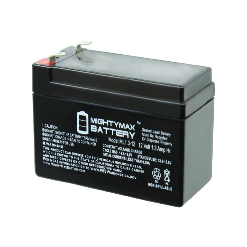 Mighty Max Battery 12 Volt 1 3 Ah Rechargeable F1 Terminal Sealed Lead Acid Sla