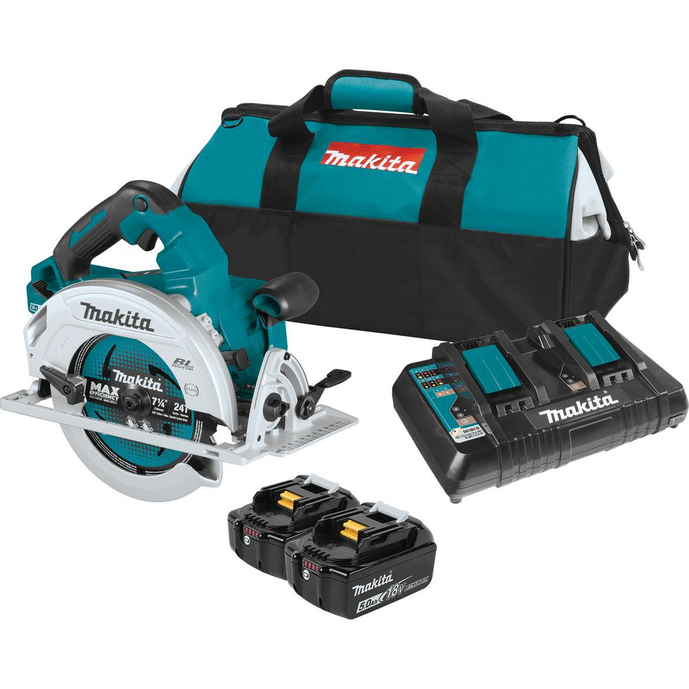 Makita 18-Volt X2 LXT Lithium-Ion (36-Volt) Brushless Cordless 7-1/4 in. Circular Saw Kit 5.0Ah