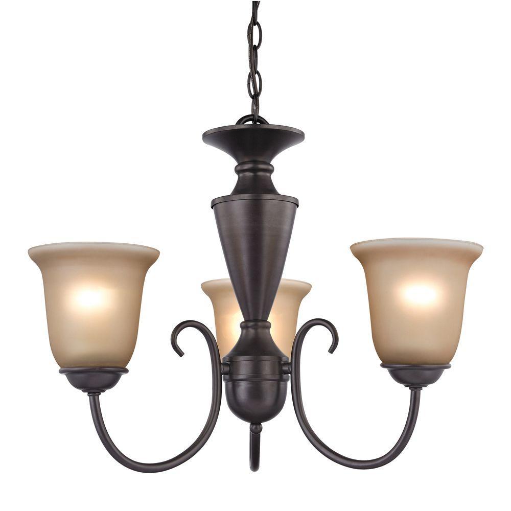 Titan Lighting 3-Light Ceiling Oil Rubbed Bronze Chandelier