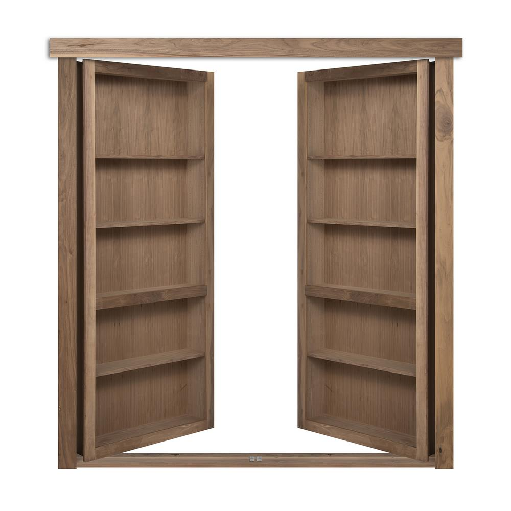 The Murphy Door 60 In X 80 In Flush Mount Assembled Walnut Unfinished Universal Solid Core
