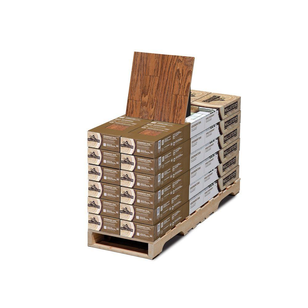 Millstead Edgemont Oak 3/8 in. Thick x 7 in. Wide x Random Length Engineered Hardwood Flooring (212.40 sq.ft./pallet)-DISCONTINUED