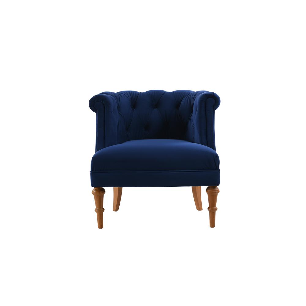 Jennifer Taylor Katherine Navy Blue Tufted Accent Chair 2483 859