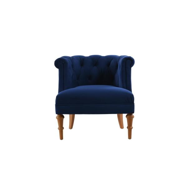Jennifer Taylor Katherine Navy Blue Tufted Accent Chair