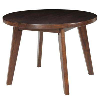 Espresso Genuine Walnut 24 in. Round Coffee Table