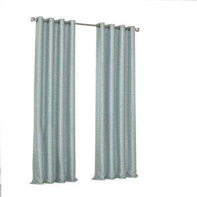 Presto Blackout Window Curtain Panel in Spa - 52 in. W. x 108 in. L