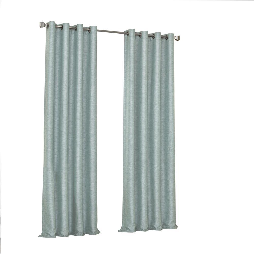 Presto Blackout Window Curtain Panel in Spa - 52 in. W. x 108 in. L
