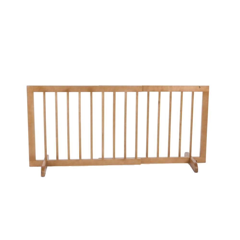 Cardinal Gates 20 in. H x 28 in. to 51.75 in. W x 2 in. D Oak Step Over Gate