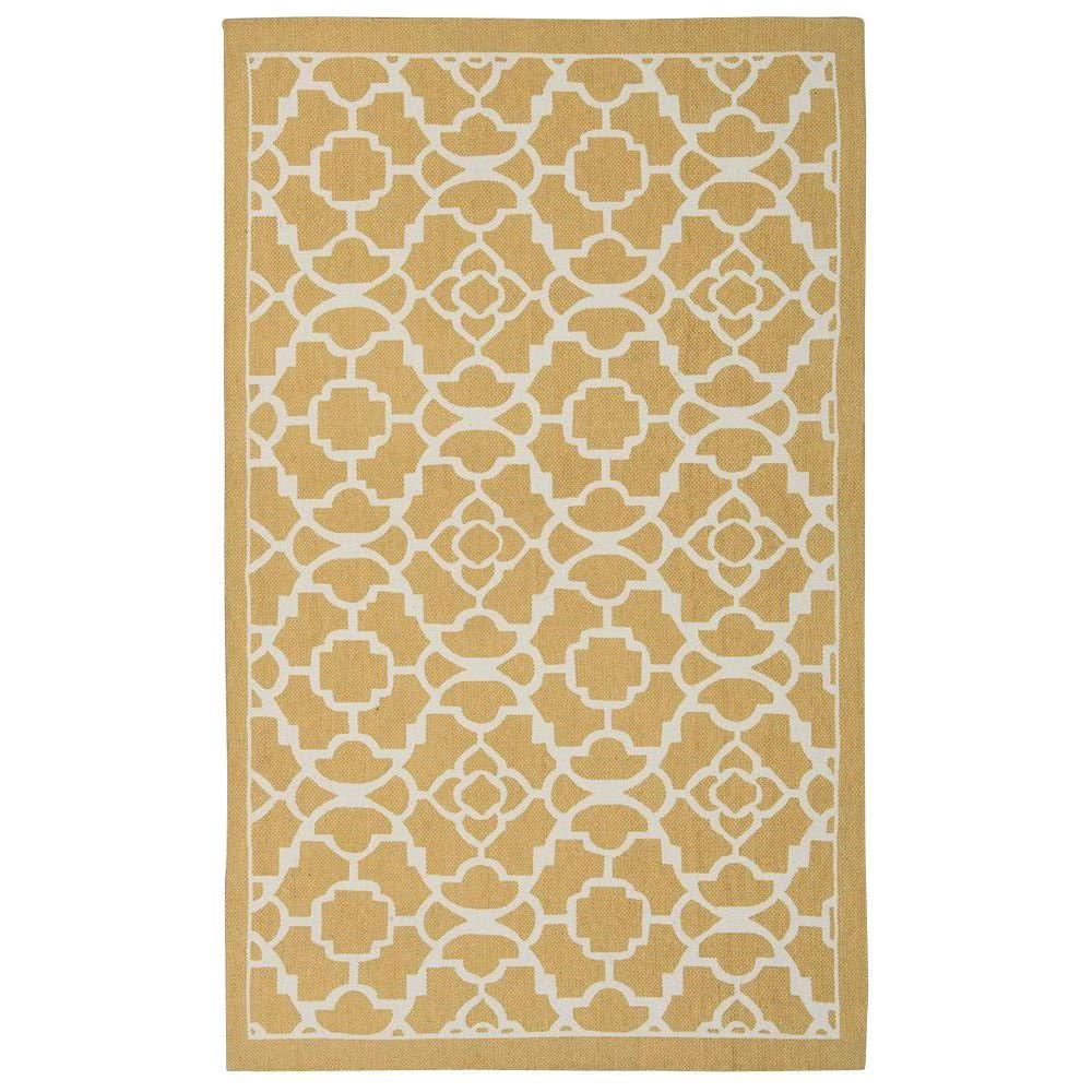 Nourison Art House Gold 2 ft. 3 in. x 3 ft. 9 in. Accent Rug