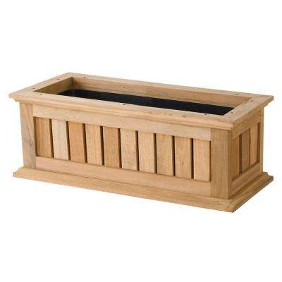 24 in. Natural Nantucket Wood Window Box