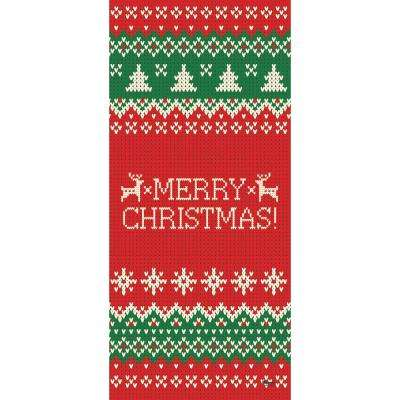36 in. x 80 in. Ugly Christmas Sweater Merry Christmas-Christmas Front Door Decor Mural