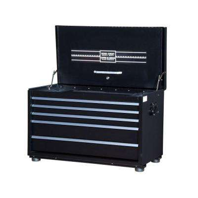 Road Box 34 in. 5-Drawer Chest, Black