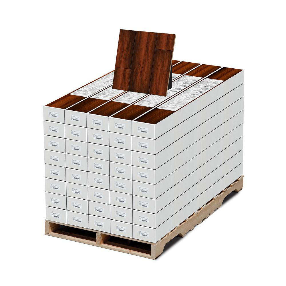 High Gloss Distressed Maple Sevilla 8 mm Thick x 5-5/8 in.