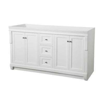Naples 60 in. W x 21-3/4 in. D Bath Vanity Cabinet Only in White