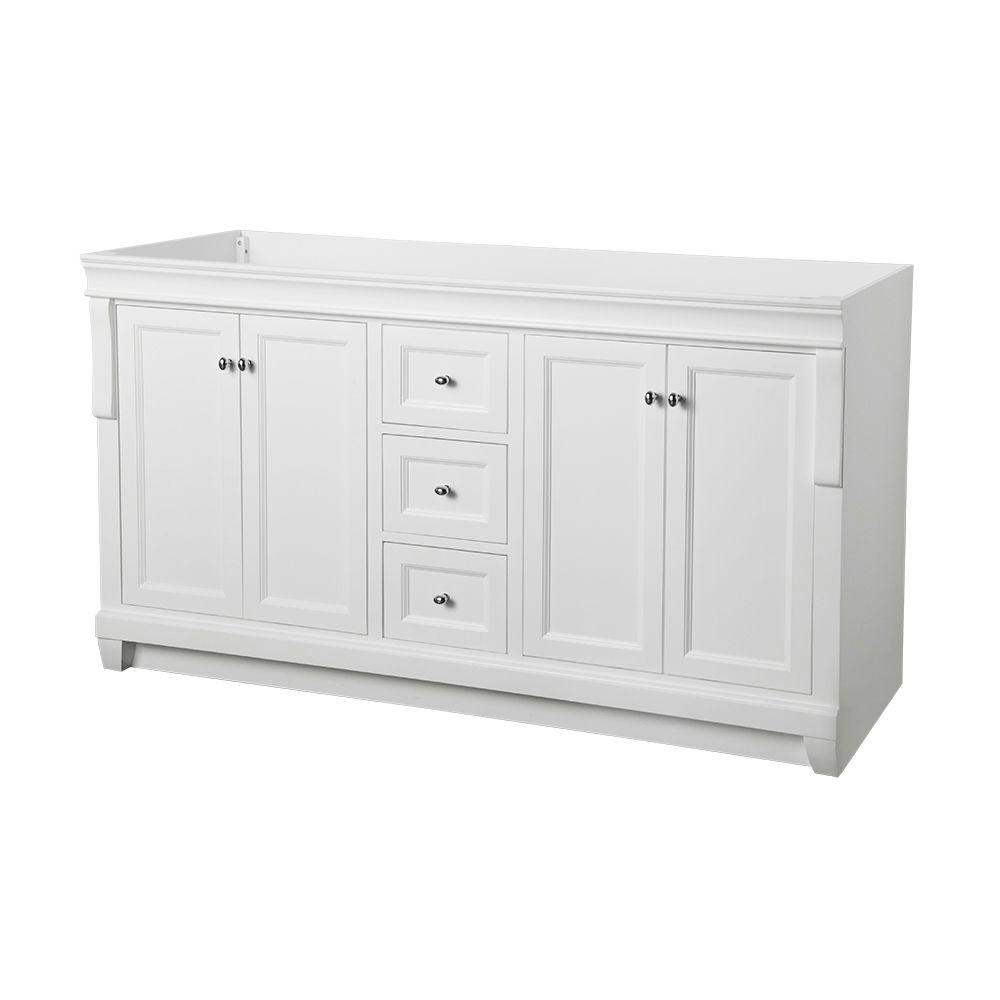 Home Decorators Collection Naples 60 In W X 21 3 4 D Bath Vanity Cabinet Only White Nawa6021d The Depot