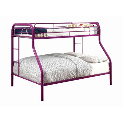 Rainbow in Purple Metal Twin and Full Bunk Bed