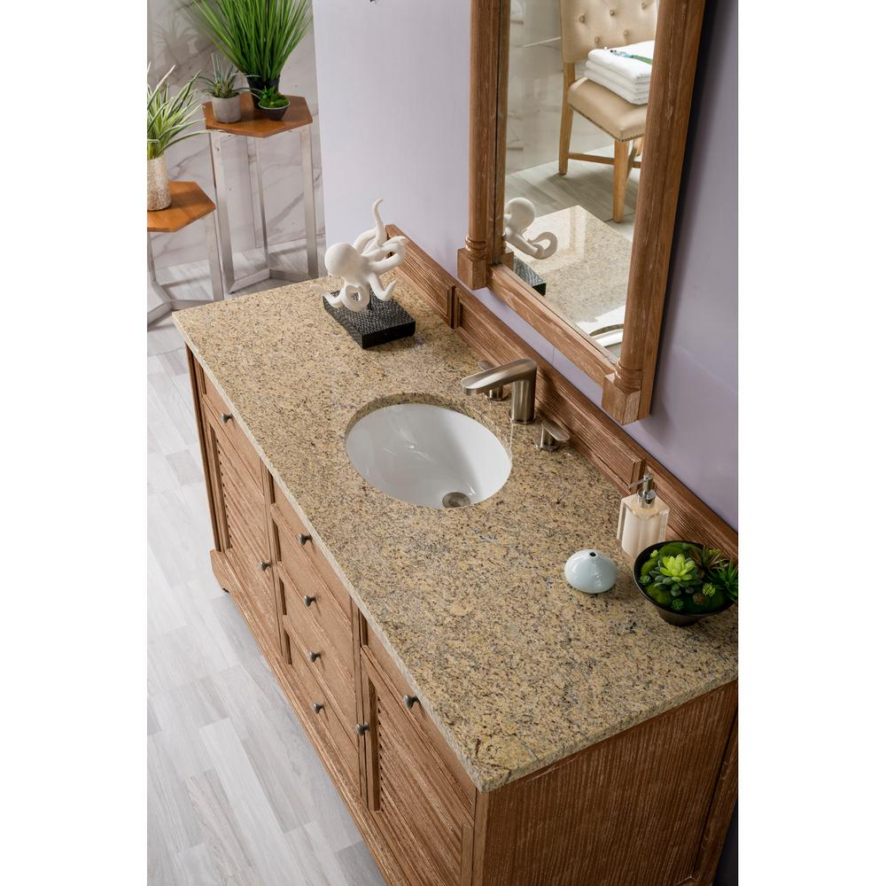 James Martin Vanities Double Bath Vanity Driftwood Granite Vanity Top Cecilia Basin 3636