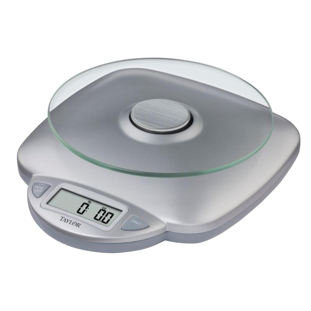 Taylor Digital Kitchen Scale in Silver-3842 - The Home Depot