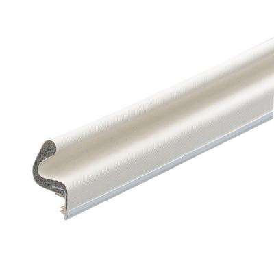E/O 1 in. x 8 ft. White Vinyl-Covered Foam Weatherstrip Kerf Door Seal