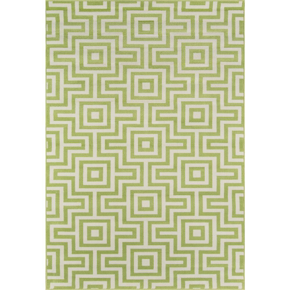 Momeni Baja Green 5 ft. 3 in. x 7 ft. 6 in. Indoor/Outdoor Area Rug
