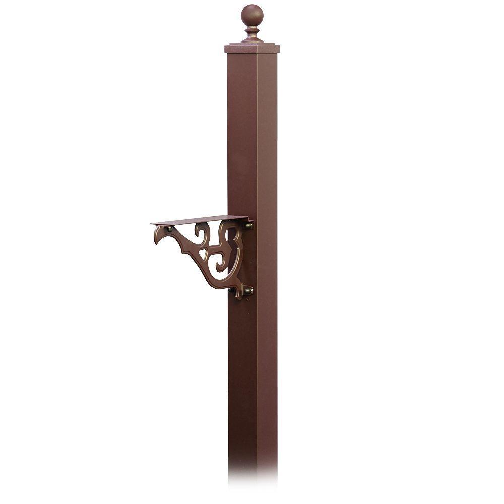 Salsbury Industries Victorian In Ground Mounted Decorative Mailbox Post Bronze
