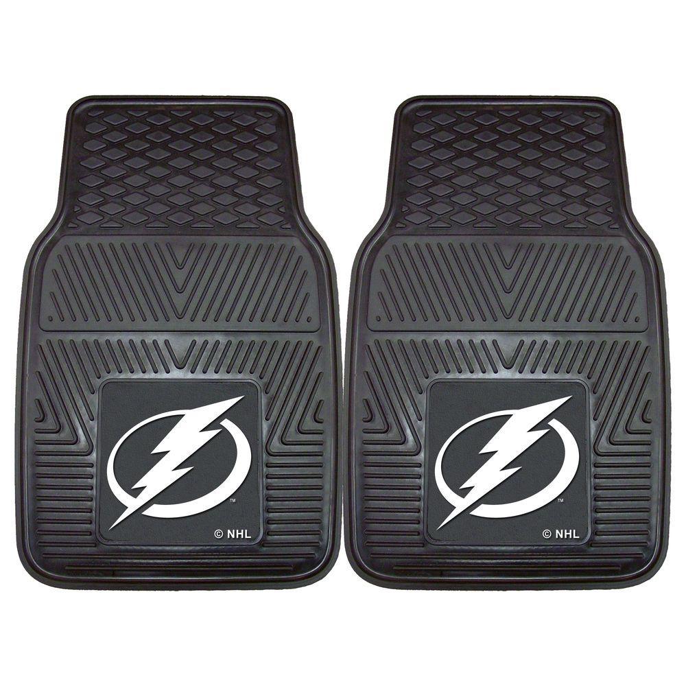 FANMATS Tampa Bay Lightning 18 in. x 27 in. 2-Piece Heavy Duty Vinyl Car Mat