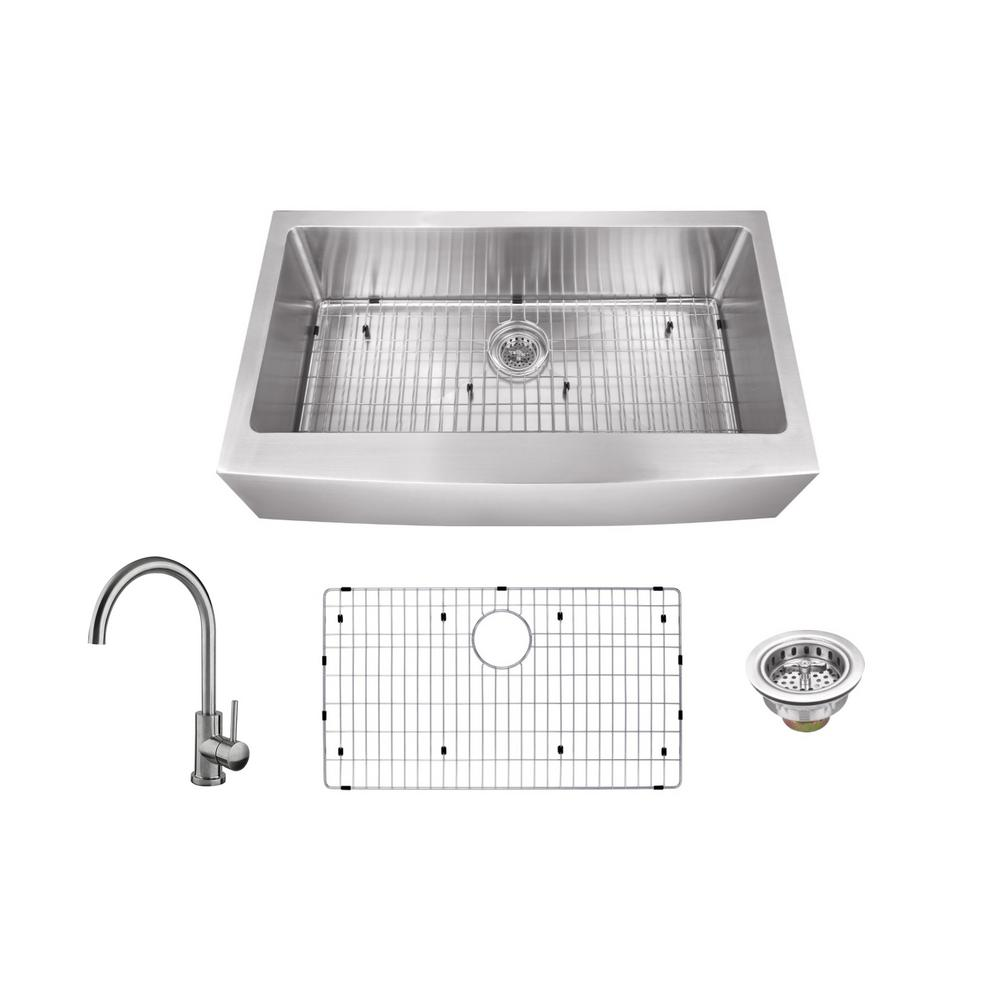 Apron Sink Vintage Apron And Custom: KOHLER Lyric Apron-Front Stainless Steel 34 In. L Single