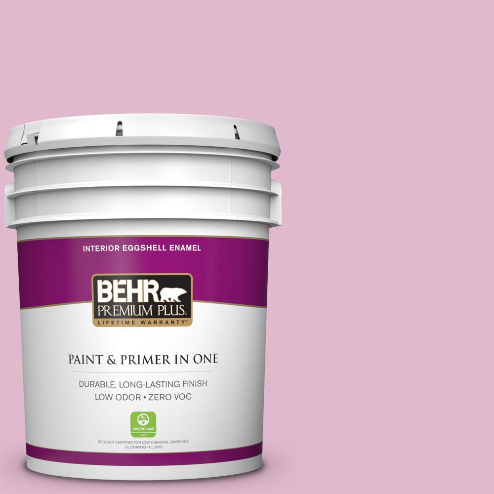 BEHR Premium Plus 5-gal. #M130-3 Wild Geranium Eggshell Enamel Interior Paint