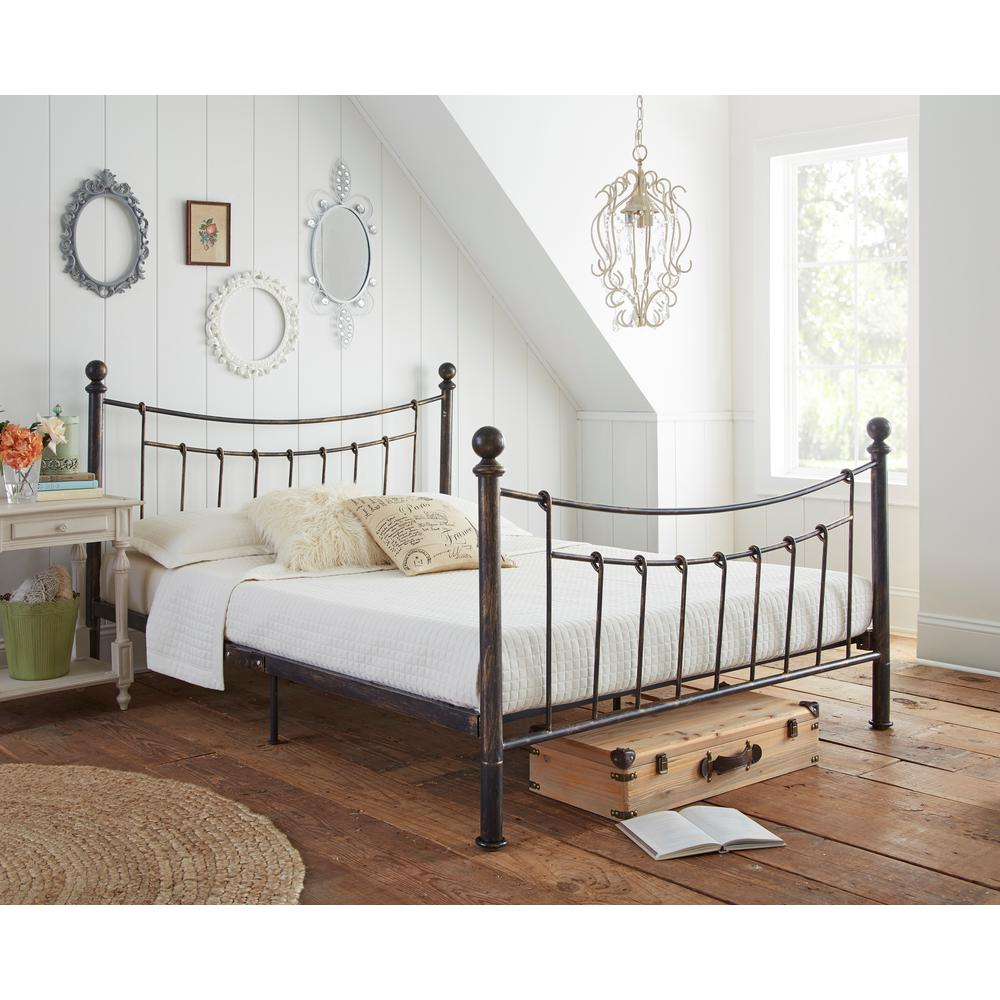 Rest Rite Pracilla Rustic Metal Queen Platform Bed