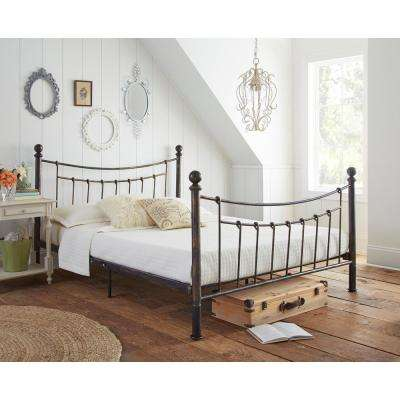 Pracilla Rustic Metal Queen Platform Bed