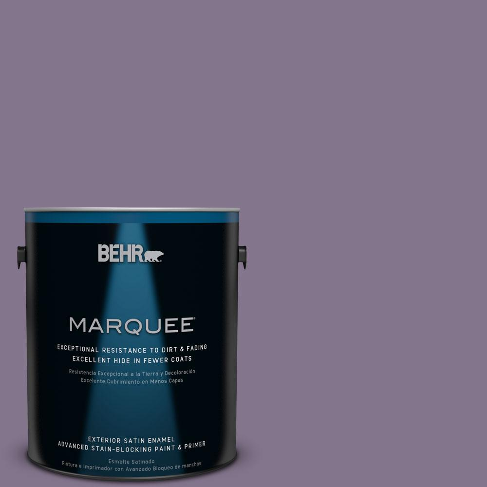 BEHR MARQUEE 1-gal. #S100-5 Purple Potion Satin Enamel Exterior Paint