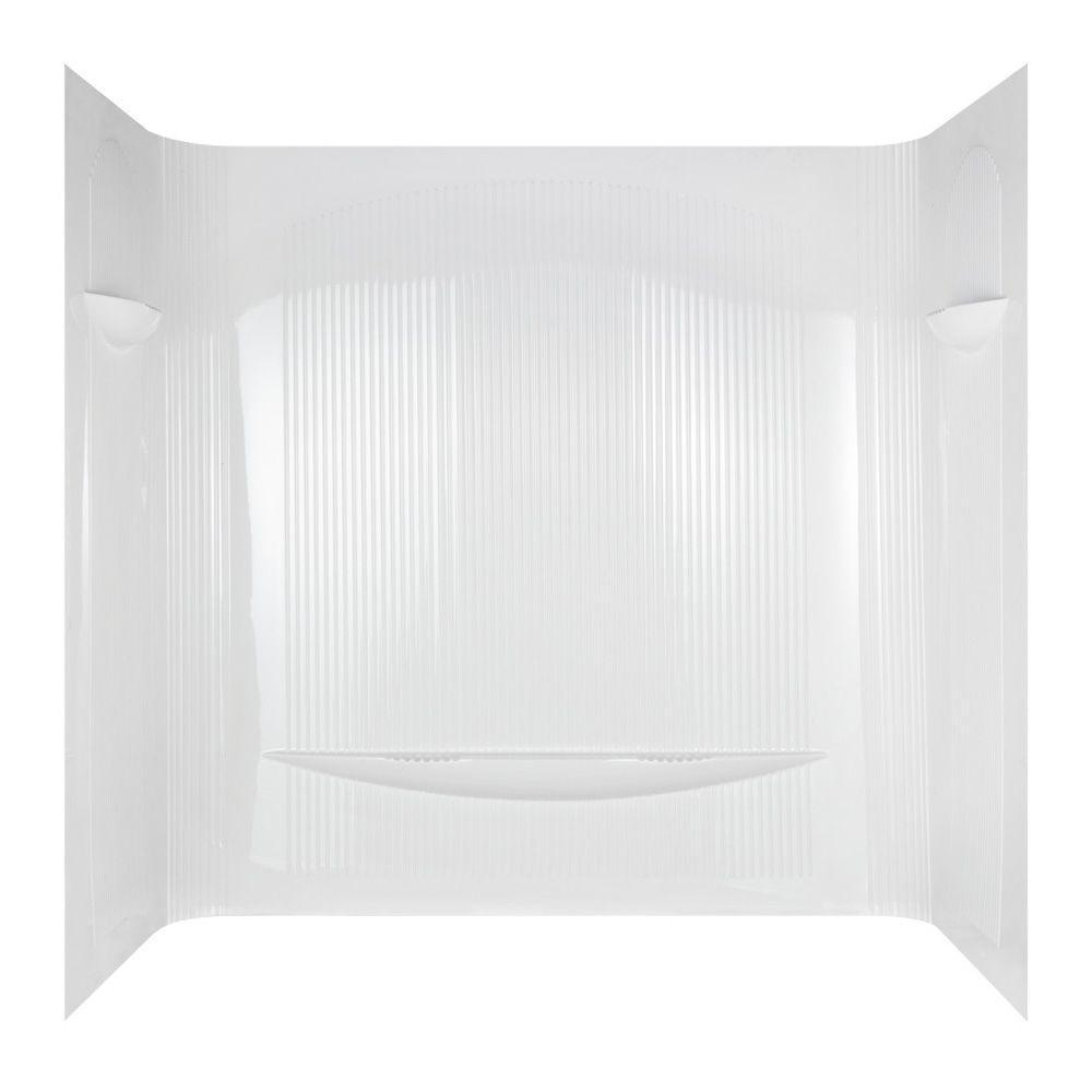 null Uni-Wrap One Piece Bathtub Wall Set in White