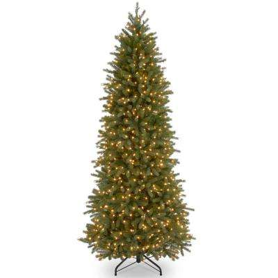 12 ft. Jersey Fraser Fir Pencil Slim Tree with Clear Lights