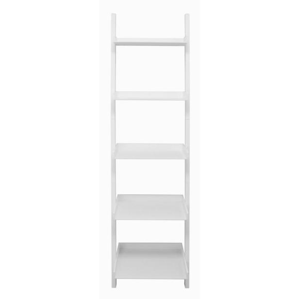 Az Home And Gifts Net Hadfield 5 Tier Wood Leaning Wall Shelf In White