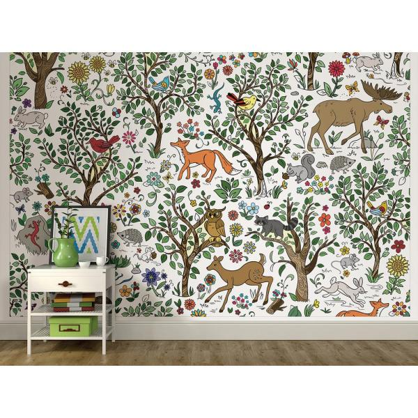 Wilderness Coloring Wall Mural