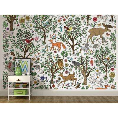 72 in. x 108 in. Wilderness Coloring Wall Mural
