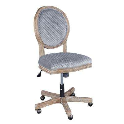 Bauer Gray Sequin Office Chair